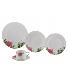 Aparelho de jantar 20pc de porcelana roses lyor