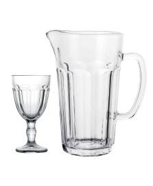 Jogo para refresco 7 pecas em vidro 1.2lx320ml dynasty