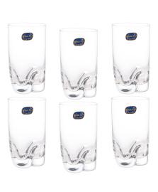Jogo 06 copos agua cristal trio bohemia