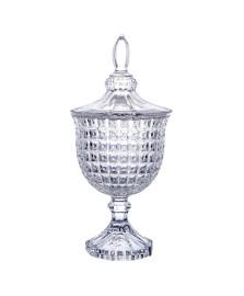 Potiche chevalier com pe em cristal d11xa24.5 cm l'hermitage