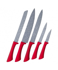 Jogo de facas colorstone 5 pc volcano euro