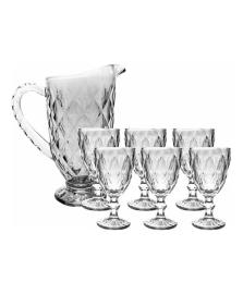 Jogo de jarra e 6 taças diamond empire haus concept