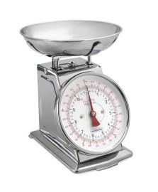 Balança analógica aço inox/cozinha capacidade maxima 5kg tramontina