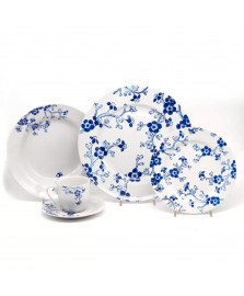 Aparelho jantar blue sakura 20 peças mcd