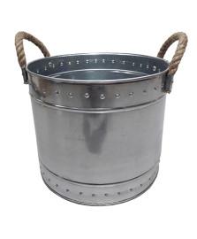 Champanheira em ferro galvanizado 25 x 19 cm