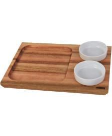 Prancha molheira c/ bowl utily 30x21x1,8 domama