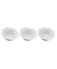 Jogo de 3 Bowls em Porcelana 9,7x9,7x4cm DYNASTY