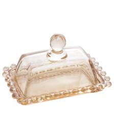 Manteigueira cristal pearl ambar 14x9x8cm wolff