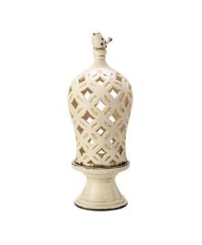 Castiçal de ceramica cupula creme lyor