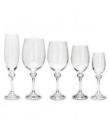 Conjunto de 30 taças de cristal ecologico elisa bohemia