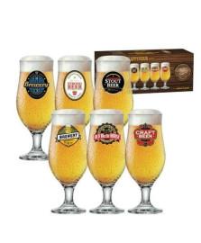 Conj. happy hour 06 taças royal beer