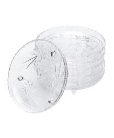 Jogo 06 pratos pequenos cristal prima luxo lyor