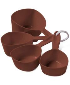 Conjunto 04 pcs medidores xícara glace chocolate brinox