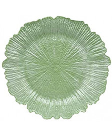 Sousplat plastico verde 33x2cm royal decor .