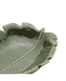 Folha Decorativa de Cerâmica Banana Leaf Verde 16 x 12 cm LYOR