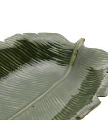 Folha Decorativa de Ceramica Banana Leaf Verde 30 x 20,5 cm LYOR