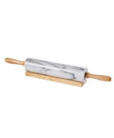 Rolo para massa de marmore e bambu marin 44,5 x 6 cm