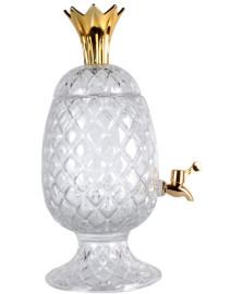 Dispenser de cristal ecologico abacaxi com coroa dourada 3 l wolff