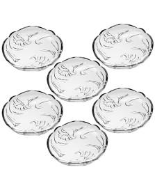 Jogo 06 pratos sobremesa vidro lily soga