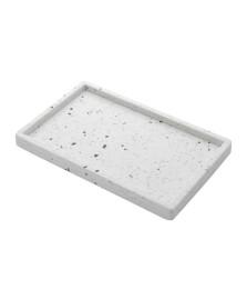 Bandeja de marmore terrazzo 27 x 17 cm