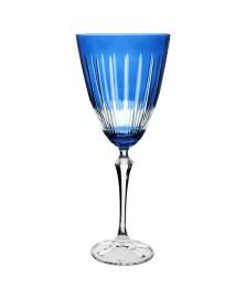 Taça p/agua elizabeth lapidada em cristal 250ml azul bohemia