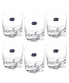 Jogo 06 copos whisky cristal trio bohemia