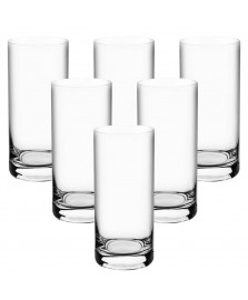 Jogo 06 copos para água 300 ml cristal bohemia