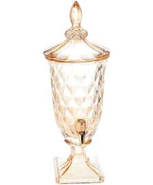Dispenser de cristal ecologico ambar diamond com torneira rose 2 l lyor lyor