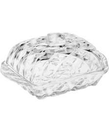 Manteigueira de cristal de chumbo deli 16,9 x 8 cm