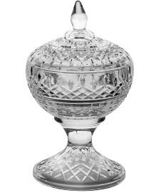 Potiche decorativa cristal de chumbo c/pe lys 14 x 22cm wolff