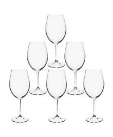 Jogo 06 taças vinho 580 ml cristal gastro bohemia