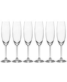 Jogo 06 taças para champagne 220 ml gastro bohemia
