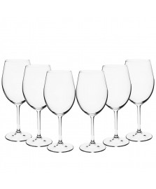 Jogo 06 taças vinho 450 ml cristal gastro bohemia