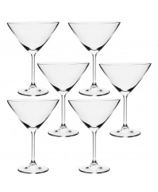 Jogo 06 taças para martini 280 ml gastro bohemia