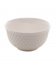 Bowl de porcelana new bone marigold branco 12 x 7 cm lyor