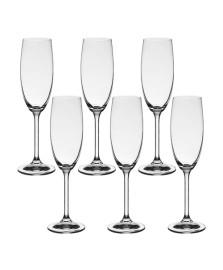 Jogo 06 taças champagne 180 ml com titânio bohemia