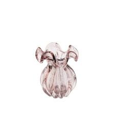 Vaso de vidro italy rosa claro 12  x 17 cm