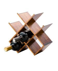 Adega de madeira com metal para 6 garrafas woodart