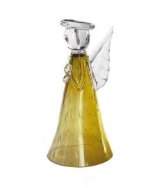 Anjo menadel grande ambar vidro house