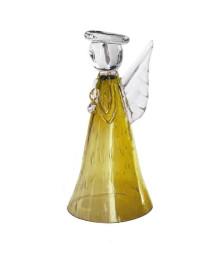 Anjo menadel médio ambar vidro house