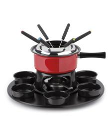 Aparelho de fondue 18 pçs firenze vermelho forma