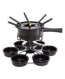 Aparelho de fondue aspen 16 peças preto carroussel forma