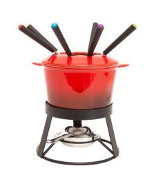 Aparelho de fondue de cerâmica gradual red 10 peças bon gourmet