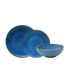Aparelho de jantar 18 pcs nature blue em porcelana lhermitage