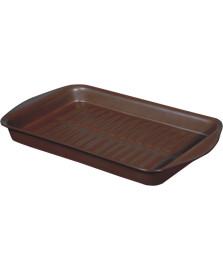 Assadeira ceramica marrom 37 x 22,5 cm ceraflame