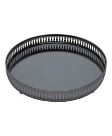 Bandeja black com espelho gallery 36 cm