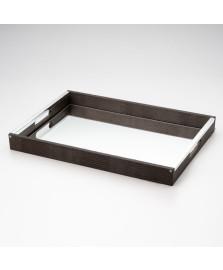 Bandeja com espelho preto 50 x 35 cm wolff