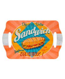 Bandeja decorativa sandwich em cerâmica dynasty