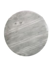 Bandeja giratória redonda em mármore kaisers