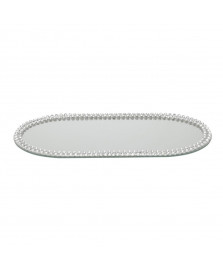 Bandeja espelhada oval 40 cm multiuso prestige